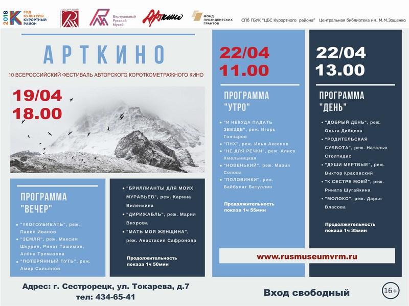 Фестиваль «Арткино» в Центральной библиотеке имени М. М. Зощенко