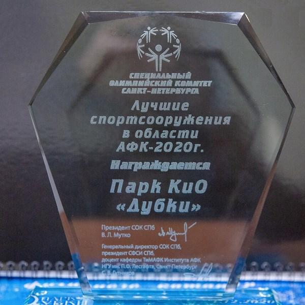 """Парк """"Дубки"""" признан лучшим объектом Санкт-Петербурга в области АФК-2020 г."""