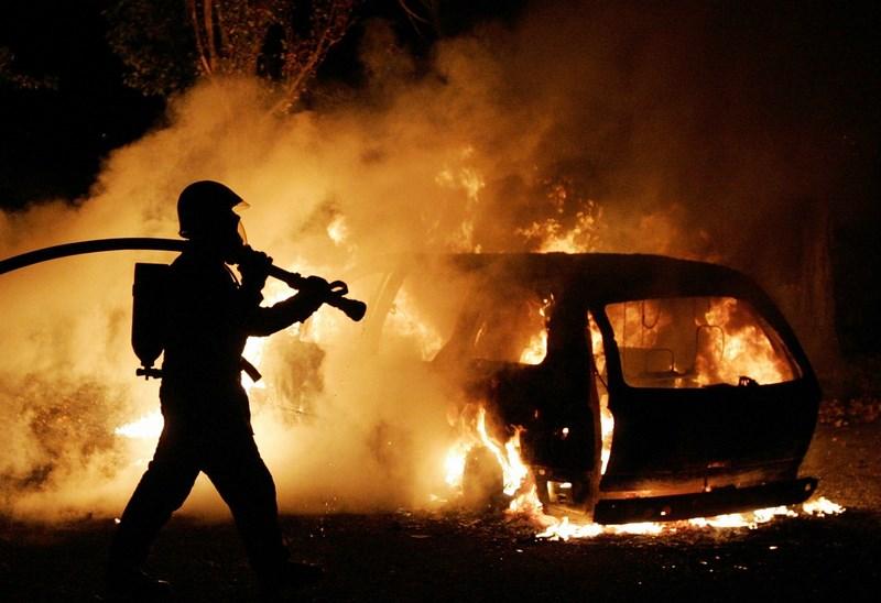 На Дубковском шоссе сгорел автомобиль «ВАЗ»